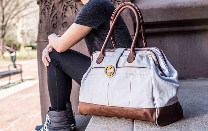 weekender bag women weekend bag laptop bag women & carry on Stone Gray