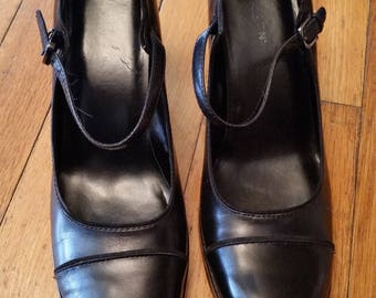 5a0ad1d531dd Kenneth Cole Reaction black leather mary janes