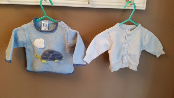 8dd330a38 2 Vintage Baby Gap sweaters vintage baby clothes baby