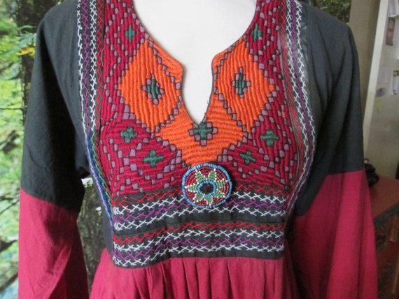 Vintage Afghan hippie goa boho 1970 dress