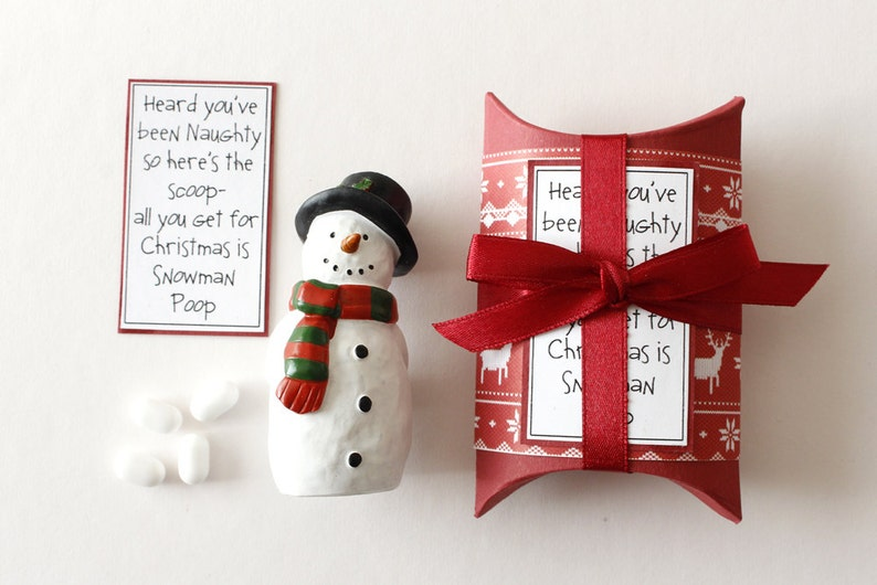 Snowman Poop Mints Novelty Christmas Gift Secret Santa image 0