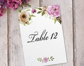 Table Number Name Cards P...