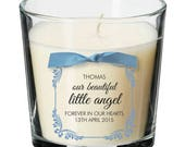 Baby remembrance candle personalised angel loss memorial bereavement absence 002