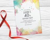 Birthday party invitations for women for men cards invites. Personalised x10. WCF_02