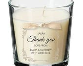 Wedding Party Guests present personalised candle wedding thank you gift 012
