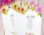 Table Plan Cards, Personalised Wedding Birdcage Mirror Table Seating Individual Loose FLC_05