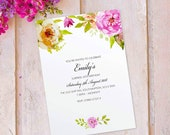 Surprise birthday party invitations for women floral cards invites. Personalised, x 10 FLF_11