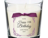 18th birthday present personalised gift candle gifts for women her men decorations party all ages 037