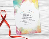 Retirement party invitations invites for women for men cards. Personalised modern design, 10 Pack WCF_04