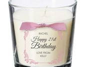 21st birthday present personalised gift candle gifts for women her men decorations party all ages 037