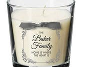 Family christmas present personalised candle xmas Home Best Friend XM13