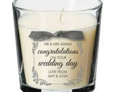 Wedding present personalised candle guest party evening day reception gift 014