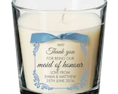Maid of Honour present personalised candle wedding thank you gift 010
