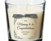 Mummy to be present personalised candle baby shower maternity leave leaving pregnancy mum gift 023