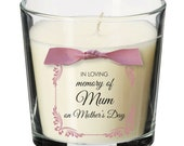 Mother's Day remembrance candle personalised memorial bereavement mum nan SE6