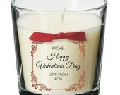 Valentines present for him her personalised gift candle wife husband partner SE4