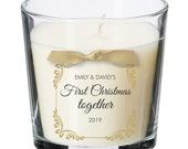 First Christmas together as a couple christmas present personalised candle Love Girlfriend Boyfriend gift XM09