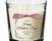 Happy mother's day mummy mothering sunday personalised candle gift present SE01