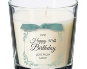 50th birthday present personalised gift candle gifts for women her men decorations party all ages 037
