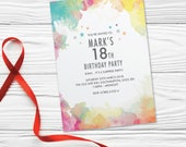 Surprise birthday party invitations for women for men cards invites. Personalised x10. WCF_01