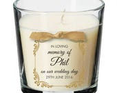 Wedding remembrance candle personalised memory absence wedding day 006