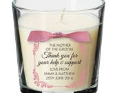 Mother of the Bride Groom present personalised candle wedding thank you gift 011