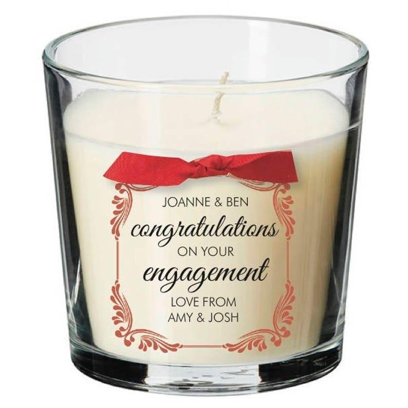 Engagement present personalised candle wedding proposal image 0
