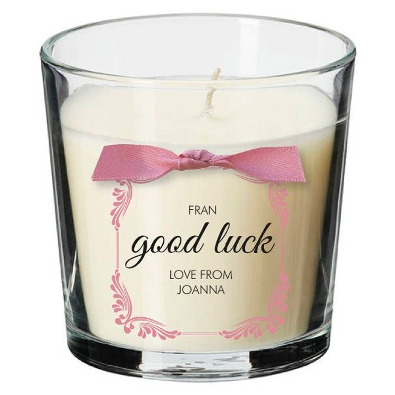 Good luck present personalised candle exams driving test job image 0