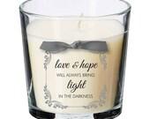 Love hope faith present candle key worker coronavirus thoughtful gift