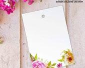 50x Floral wedding favour tags luggage favor thank you label card diy blank A7. Vintage flower design FLS_08_50