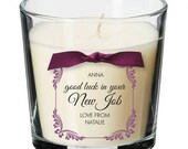 New job leaving present personalised candle promotion sorry you're leaving gift 027