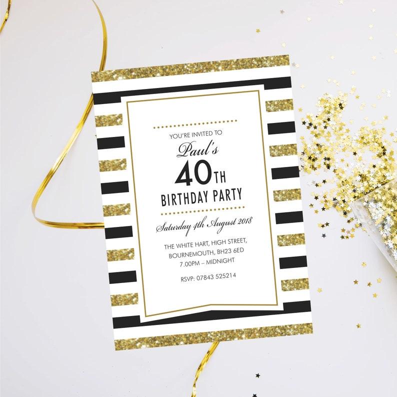 Birthday party invitations. Evening disco cards invites. image 0