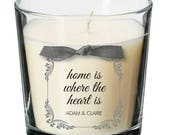 Home Personalised present table centrepiece house dinner party candle gift 040