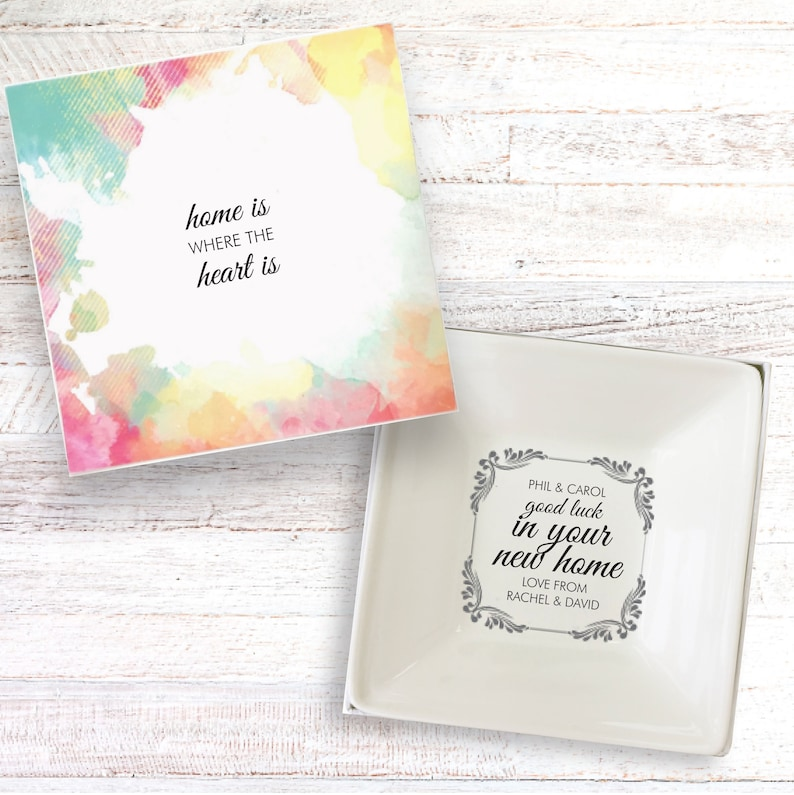 New home present personalised gift dish moving in house image 0