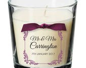Wedding table centrepiece candle personalised reception decoration seating gift 041