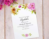 Birthday party invitations for women floral cards invites. Personalised, 10 Pack FLF_12