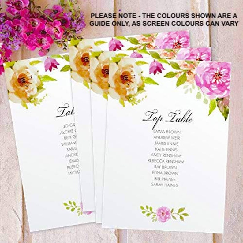 Table Plan Cards Personalised Wedding Birdcage Mirror Table image 0