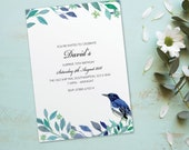 Surprise birthday party invitations for women for men cards invites. Personalised, x10 BDF_11