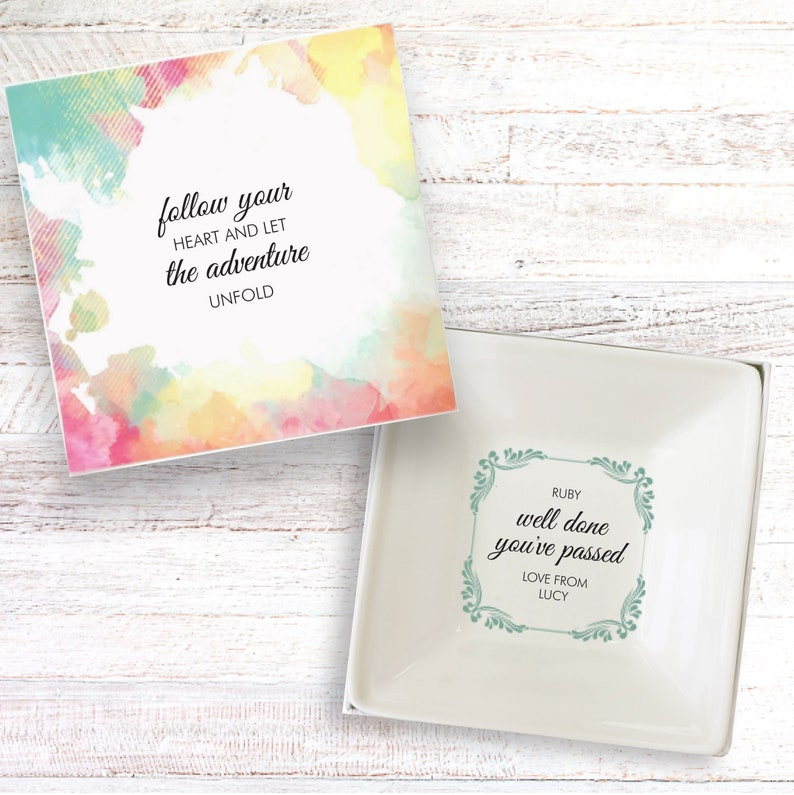 Well done passed present personalised gift dish exams pass image 0