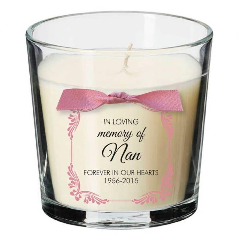 Remembrance candle personalised loss memorial bereavement image 0