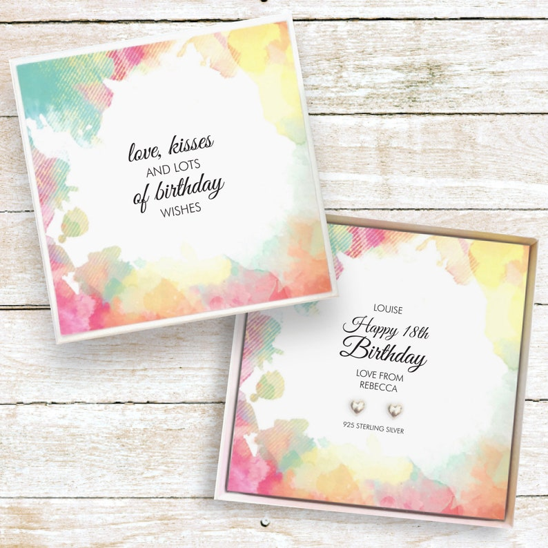 Age birthday present personalised gift for girls earrings image 0