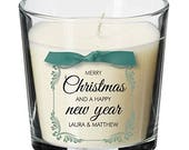 Merry Christmas and a happy new year table centrepiece decoration personalised candle family decor decorations christmas present Gift XM12