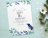 Kids birthday party invitations girls boys cards invites. Childs Childrens teenager personalised, 10 Pack BDF_13