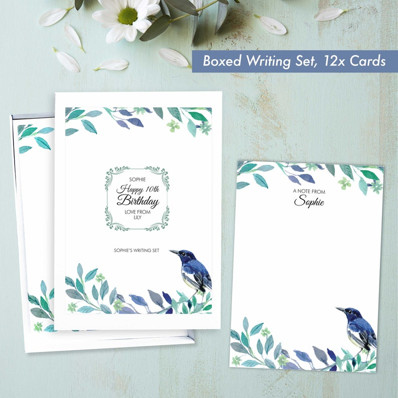 Kids birthday present personalised gifts stationery for women image 0