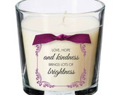Love hope kindness present candle Key worker coronavirus thoughtful gift