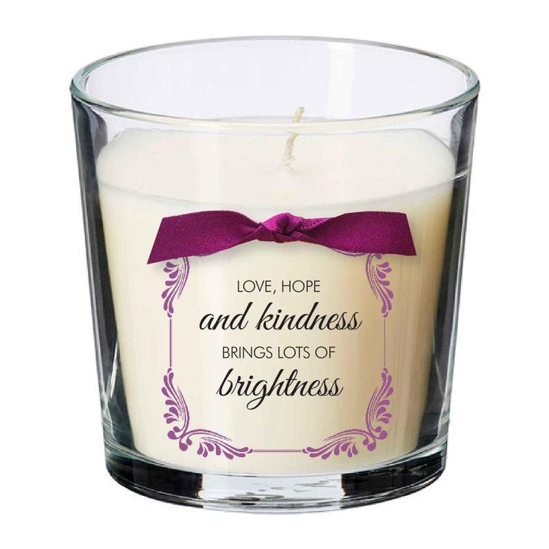 Love hope kindness present candle Key worker coronavirus image 0