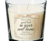 New home present personalised candle moving in house warming party property gift 022