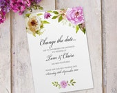 Wedding change of date invitations invites cards postponed cancelled coronavirus postponement x10