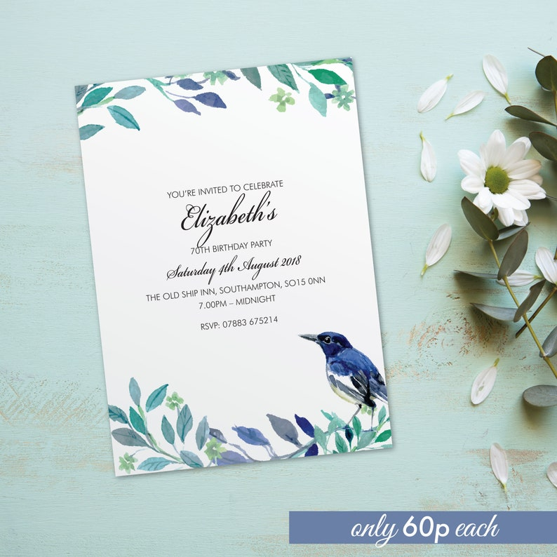 Birthday party invitations for women for men cards invites. image 0