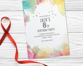 Kids birthday party invitations girls boys cards invites. Childs Childrens teenager personalised, 10 Pack WCF_03